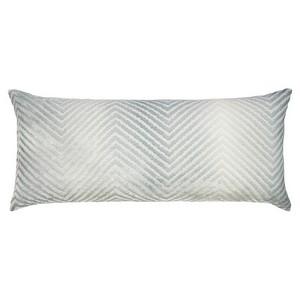 Kevin OBrien Studio Chevron Velvet Decorative Pillow - Mineral (16x36).
