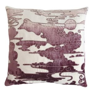 Kevin O'Brien Studio Clouds Embroidered Velvet Applique Dec Pillows