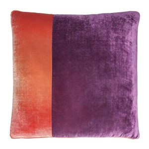 Kevin O'Brien Studio Color Block Velvet Decorative Pillow
