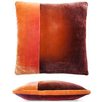 Patches of shining velvet colors are united into a coordinated palette on each of our color block pillows.