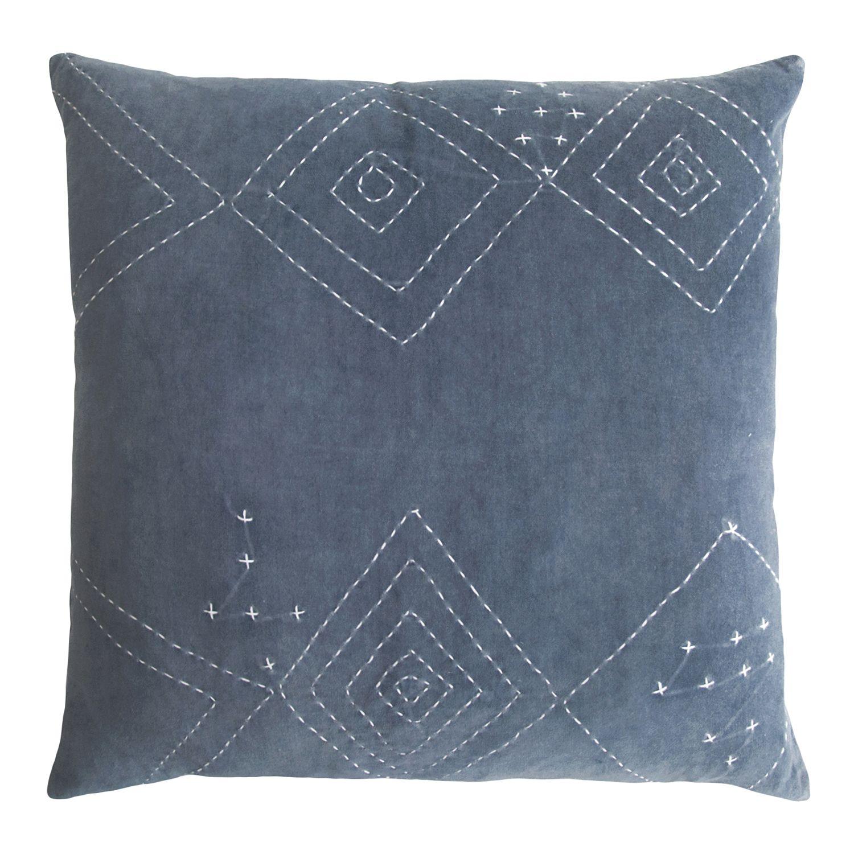 Cotton Velvet Decorative Pillows : Kevin OBrien Diamond Stitch Cotton Velvet Decorative Pillow