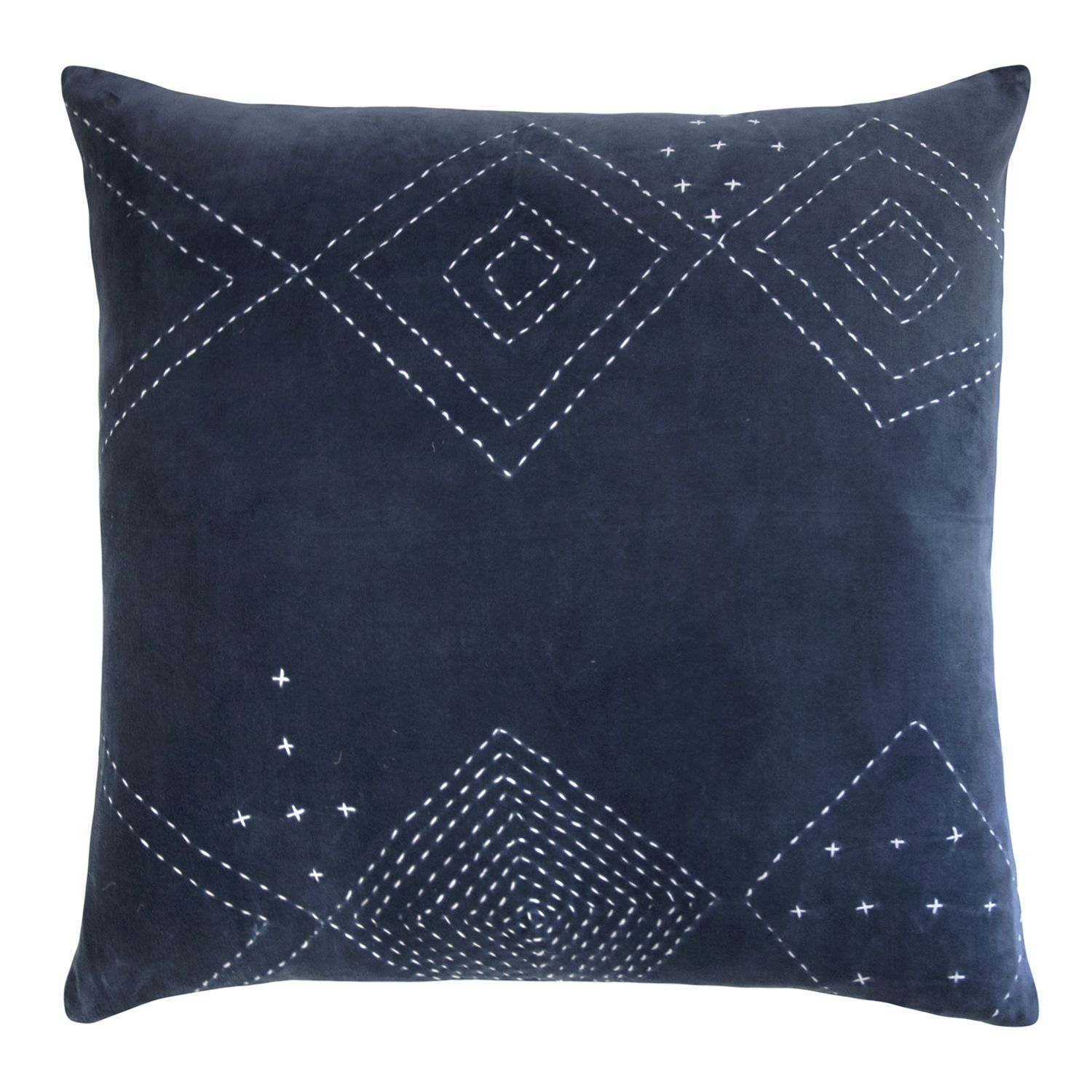 Kevin OBrien Diamond Stitch Cotton Velvet Decorative Pillow