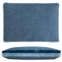 Kevin OBrien Studio Double Tuxedo Linen/Cotton Decorative Pillow