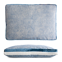 This chic linen pillow is brightened by two silk velvet tuxedo stripes that coordinate beautifully with the luxe velvet pillows.