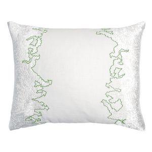 Kevin OBrien Studio Ferns Appliqued Velvet Linen Decorative Pillows - Grass (16x20)