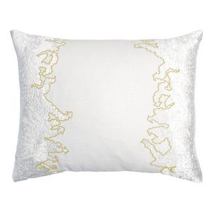 Kevin OBrien Studio Ferns Appliqued Velvet Linen Decorative Pillows - Yellow (16x20)