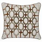 Kevin O'Brien Studio Frames Dec Pillow is 100% Linen with embroidery and velvet appliqu�.