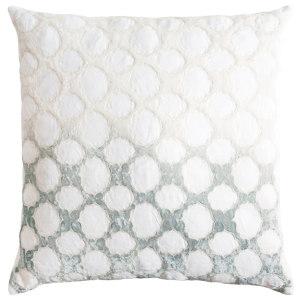 Kevin O'Brien Fretwork Appliqued Linen Throw Pillow