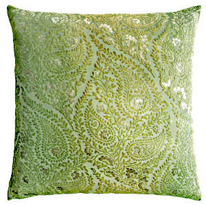 Kevin OBrien Studio Henna Velvet Decorative Pillows - Grass
