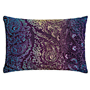 Kevin OBrien Studio Henna Velvet Decorative Pillows - Peacock (14X20)