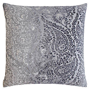 Kevin OBrien Studio Henna Velvet Decorative Pillows - Silver Gray