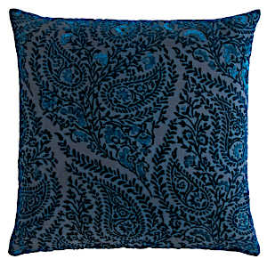 Kevin OBrien Studio Henna Velvet Decorative Pillows - Cobalt Black