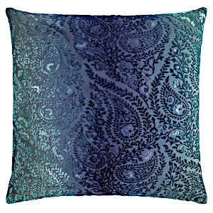 Kevin OBrien Studio Henna Velvet Decorative Pillows - Shark Blue