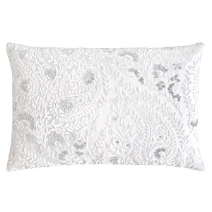 Kevin OBrien Studio Henna Velvet Decorative Pillows - White (14x20)