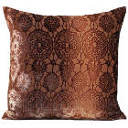 Kevin O'Brien Studio Lace Velvet Dec Pillow is 50% silk 50% rayon.
