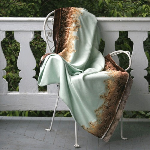 Kevin O'Brien Studio Embellished Merino Wool Throws