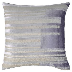 Kevin O'Brien Studio Metallic Velvet Stripe in Violet/Silver