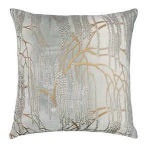 Kevin O'Brien Studio - Metallic Willow Velvet Dec Pillow - Mineral