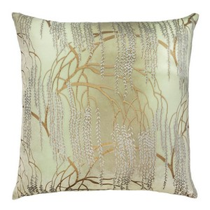 Kevin O'Brien Studio - Metallic Willow Velvet Dec Pillow - Pistachio