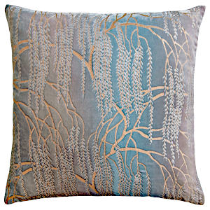 Kevin O'Brien Studio - Metallic Willow Velvet Dec Pillow - Robin's Egg