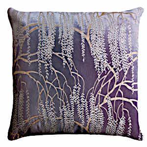 Kevin O'Brien Studio - Metallic Willow Velvet Dec Pillow - Aubergine