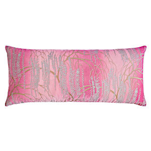 Kevin O'Brien Studio - Metallic Willow Velvet Dec Pillow - Azalea