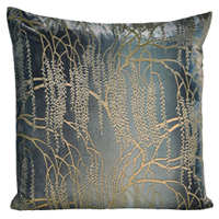 The Metallic Willow art work on these decorative pillows will stand out and enhance the decor of any room with a modern touch.
