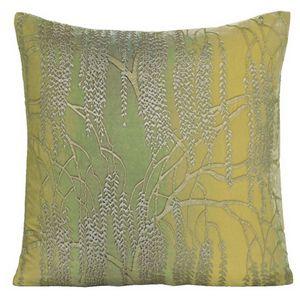 Kevin O'Brien Studio - Metallic Willow Velvet Dec Pillow - Citron