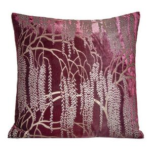 Kevin O'Brien Studio - Metallic Willow Velvet Dec Pillow - Raspberry