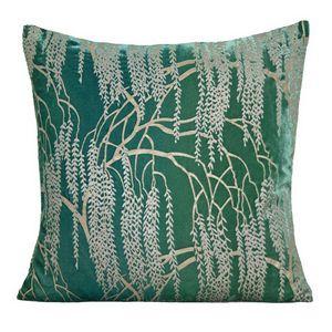 Kevin O'Brien Studio - Metallic Willow Velvet Dec Pillow - Emerald