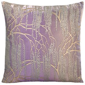 Kevin O'Brien Studio - Metallic Willow Velvet Dec Pillow - Iris