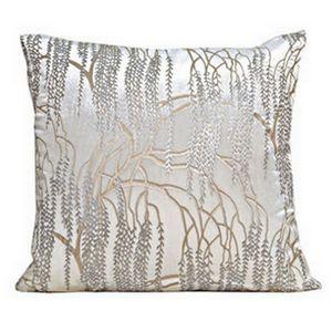 Kevin O'Brien Studio - Metallic Willow Velvet Dec Pillow - White