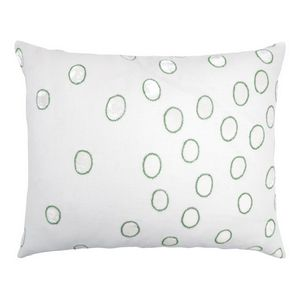 Kevin OBrien Studio Ovals Appliqued Velvet Linen Decorative Pillows - Grass (16x20)