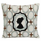 Kevin O'Brien Studio Silhouette Dec Pillow is made with 100% Linen with embroidery and velvet appliqu�.