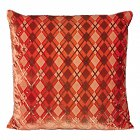 Kevin O'Brien Studio - Small Argyle Silk & Rayon Velvet Dec Pillow.