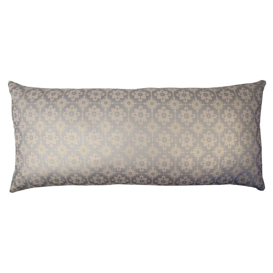 Kevin O Brien Studio Small Moroccan Metallic Linen Decorative Pillow