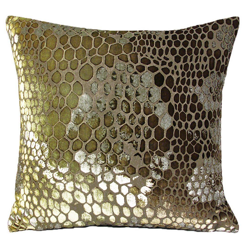 Wonderful Kevin OBrien Studio Snakeskin Velvet Dec Pillow DA89