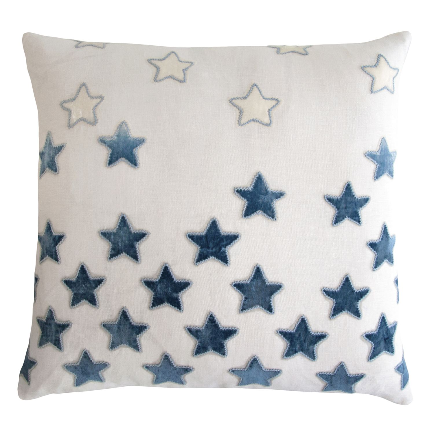 Throw Pillows With Stars : Kevin OBrien Studio Stars Embroidered Velvet Applique Decorative Pillow