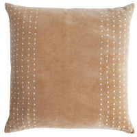 The free-form diamond patterns hand-stitched on Kevin O'Brien Studio's cotton velvet pillows lend a casual elegance to any space.