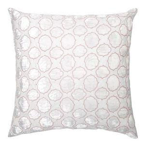 Kevin O'Brien Studio Tile Appliqued Linen Throw Pillow