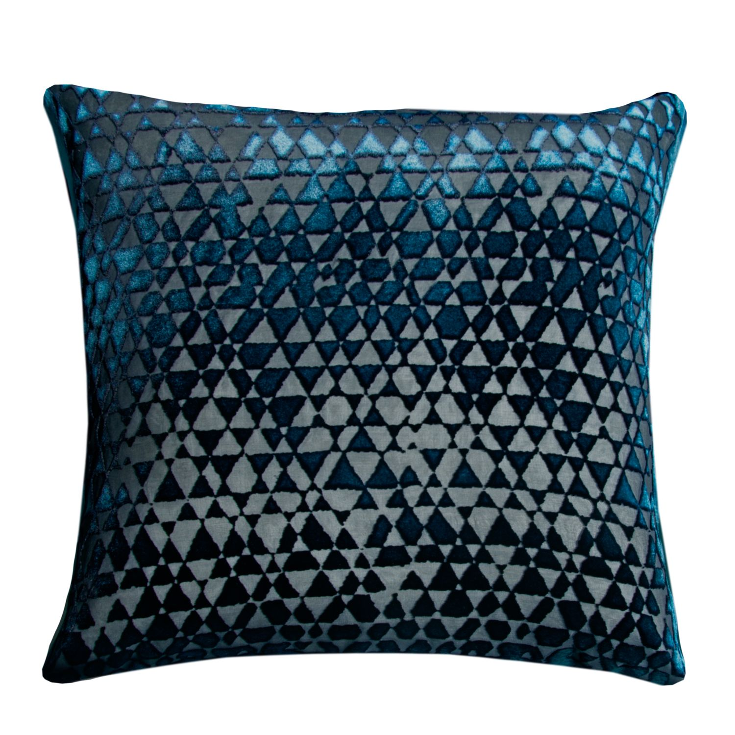 Kevin Obrien Studio Triangles Velvet Decorative Pillow