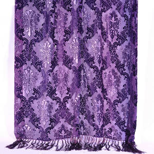 Kevin O'Brien Studio Velvet Throws are made with silk and rayon.
