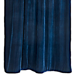 Kevin O'Brien Studio Cobalt Black Solid Velvet Throws are made with silk and rayon.