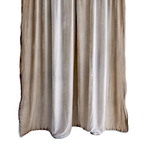 Kevin O'Brien Studio Ombre Coyote Velvet Throws are made with silk and rayon.