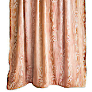 Kevin O'Brien Studio Woodgrain MangoVelvet Throws are made with silk and rayon.