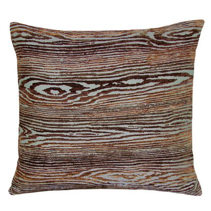 Kevin O'Brien Studio Wood Jacquard  Dec Pillow is made with silk and rayon.