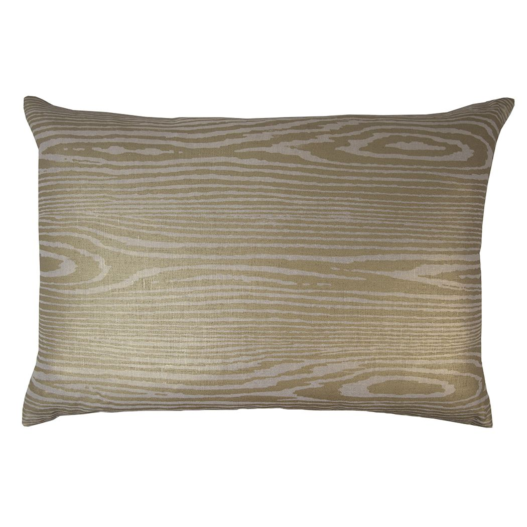 Discontinued Kevin OBrien Studio Woodgrain Metallic Linen Decorative Pillow