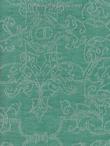 Leitner Camelot Table Linen Sample in Camelot Petrol color