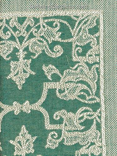 Leitner Flatweave Camelot Decorative Pillow fabric sample in Petrol color