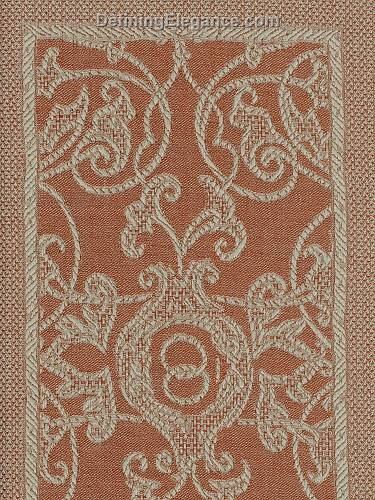 Leitner Flatweave Camelot Decorative Pillow fabric sample in Rostrot color